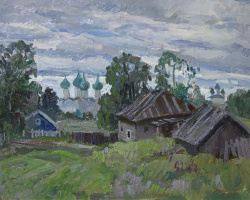 Boris Petrovich Zakharov. The Kargopol foul weather. Etude.