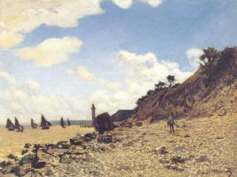Клод Моне. Пляж в Онфлёр