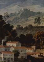 Йозеф Антон Кох. Монастырь св. Франциска в горах под Римом, фрагмент