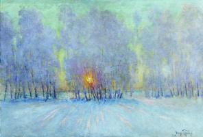 Igor Nobel Grabar. Frost. Sunrise