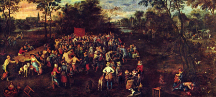 Jan Bruegel The Elder. The wedding feast