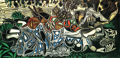Пабло Пикассо. Девушки на берегу Сены (по Г.Курбе)