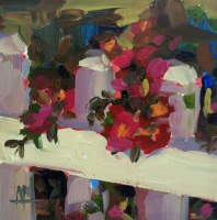 Angela Moulton. Roses on the fence