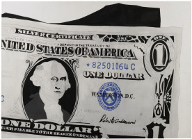 Andy Warhol. One-dollar bill (Silver certificate)