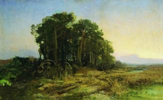 Fedor Alexandrovich Vasilyev. Pine grove near the swamp