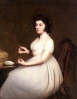 Joseph Wright. Portrait of Mrs Abney