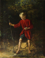 Василий Владимирович Пукирев. Мальчик с птичьим гнездом