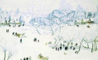Konstantin Fedorovich Yuon. Sorceress-winter. Ligachovo. Moscow province. 1912