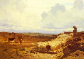 Огюст Бонер. Пастух и его стадо