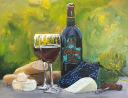 Nikita Chugunov. Still Life A-2 (wine)