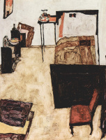 Egon Schiele. Bedroom Schiele in Neulengbach