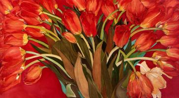 Хелен Лукас. Красные тюльпаны