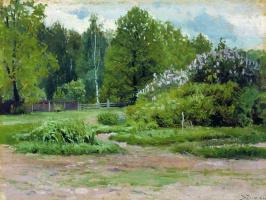 Станислав Юлианович Жуковский. Сирень в парке