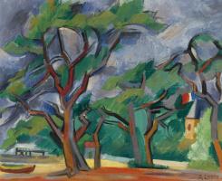 Андре Лот. Берег с деревьями в Пике. 1935