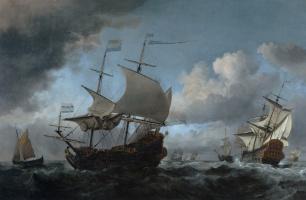 Willem van de Welde the Younger. The Dutch Fleet Assembling Before the Four Days' Battle of 11-14 June 1666