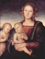 Пьетро Перуджино. Мадонна со св. Иоанном Крестителем