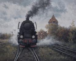 """Alex Kupchikov. """"Autumn at the station"""""""