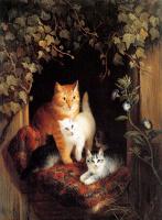 Генриетта Роннер-Книп. Гнездо с котятами