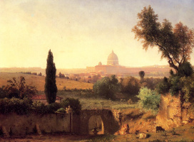 George Innes. The Cathedral Of St. Peter - Rome