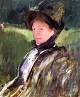 Mary Cassatt. Lydia Cesset in bonnet and coat