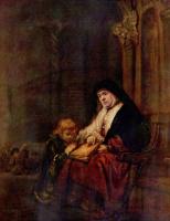 Рембрандт Ван Рейн. Тимофей и его бабушка