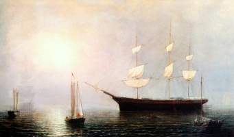 Фитц Хью Лейн. Корабль Старлайт в тумане