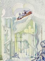 Salvador Dali 1904 - 1989 Spain. Winged horse Pegasus. 1966