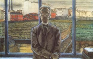 Mstislav Valerianovich Dobuzhinsky. The man with the glasses. Portrait of the art critic and poet Konstantin Sunnerberg