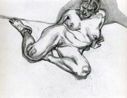 Люсьен Фрейд. Женщина без одежды