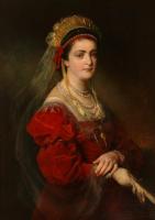 Фридрих фон Амерлинг. Портрет Марии Патерно, четвертой и последней жены Амерлинга. 1881