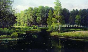 Ефим Ефимович Волков. Лесной пейзаж