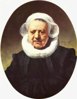 Рембрандт Ван Рейн. Портрет шестидесятитрехлетней женщины в крахмальном воротничке и чепце