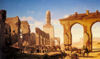 Проспер Марилхат. Руины мечети халифа Хакима в Каире