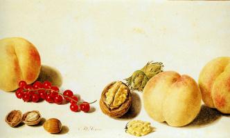 Ян ван Хусум. Натюрморт с фруктами