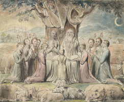 William Blake. The Book Of Job. Job and his family returned to prosperity