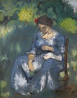 Луи Анкетен. Женщина с кошкой. 1892-1893