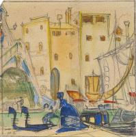 Мстислав Валерьянович Добужинский. Венеция. 1920-е