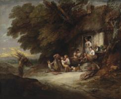 Томас Гейнсборо. У дверей крестьянского дома