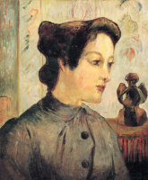 Paul Gauguin. Woman with hair retracted in a bun