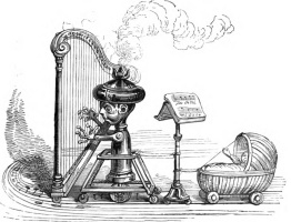 "Jean Inias Isidore (Gerard) Granville. A young virtuoso with a steam harp. A series of ""Other World"""