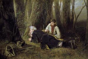 Василий Григорьевич Перов. Птицелов