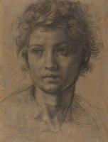 Андреа дель Сарто. Эскиз головы Святого Иоанна Крестителя