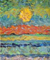 Макс Эрнст. Пейзаж с солнцем