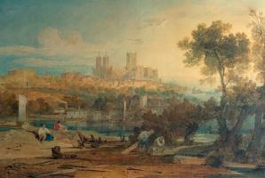 Джозеф Мэллорд Уильям Тёрнер. Вид на Линкольнский собор со стороны Холмса, Брайфорд