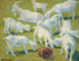 Nikolay Aleksandrovich Tarkhov. Goats in the sun