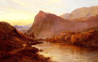 Альфред де Бреански. Закат в Долине реки