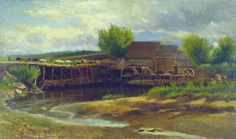 Константин Егорович Маковский. Пейзаж с озером