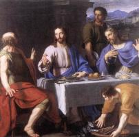 Филипп де Шампень. Ужин в Эммаусе (фрагмент)