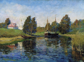 Isaac Levitan. The lake. Autumn