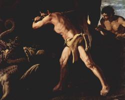 Франсиско де Сурбаран. Геракл побеждает Лернейскую гидру